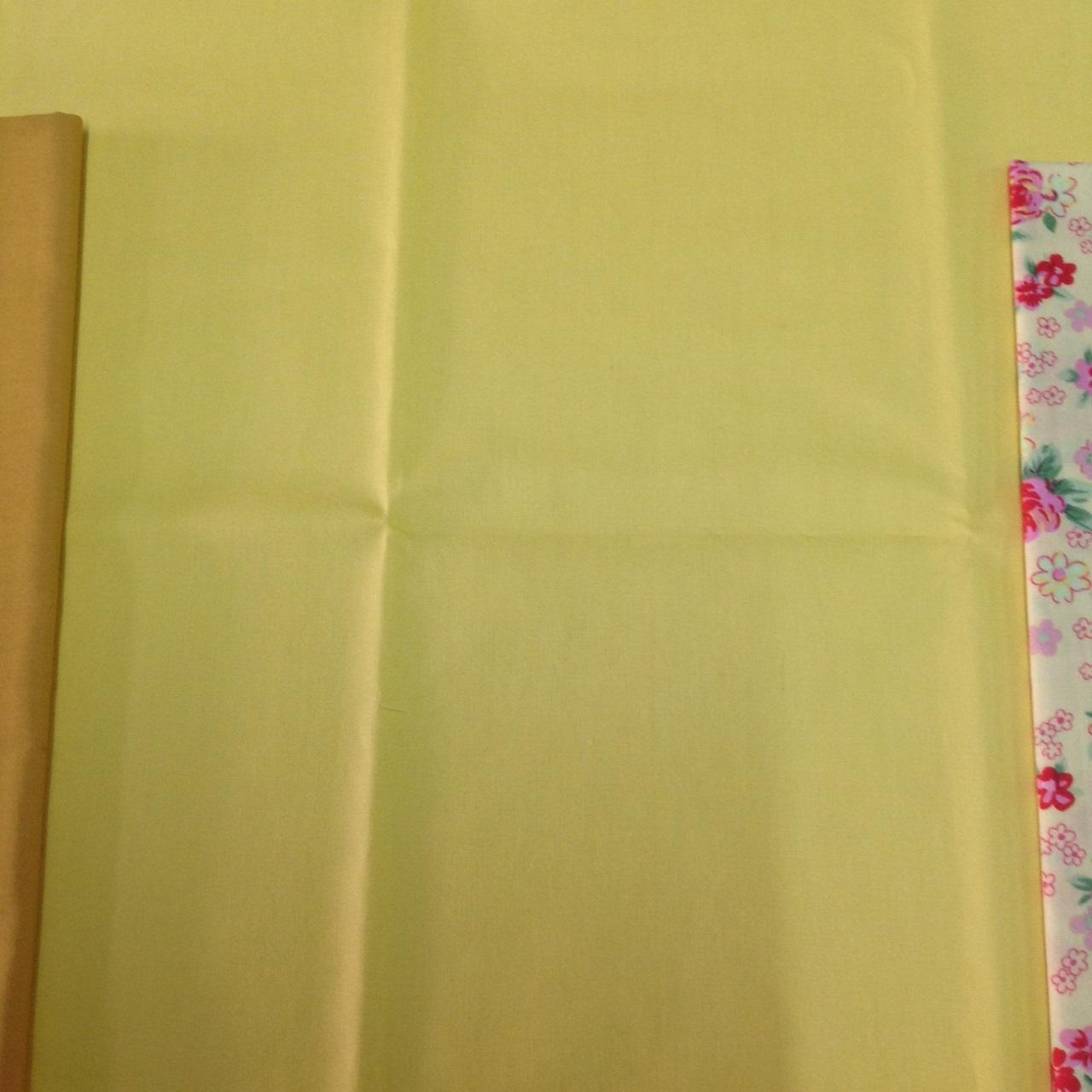 ผ้าฝ้าย cotton 100% สีเหลืองสด