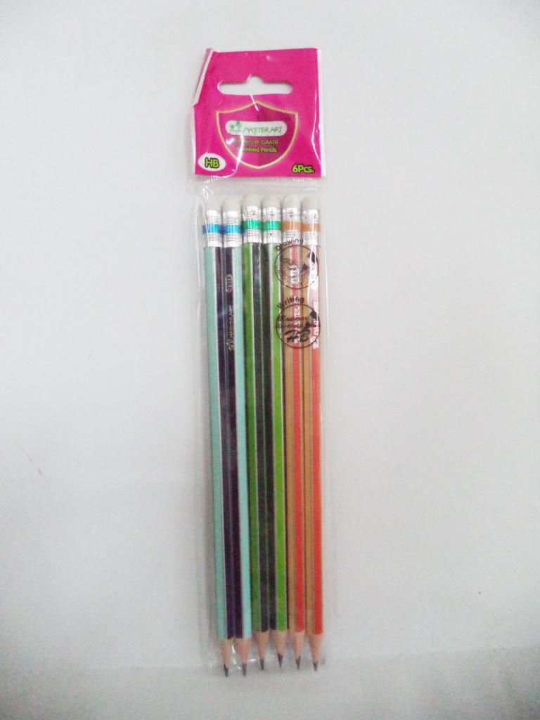 ดินสอไม้ HB แพ็ค 6 แท่ง