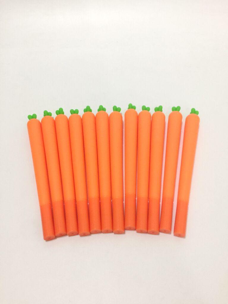 ปากกาเจลน้ำเงินลายแครอท (แพ็ค 12 ด้าม)
