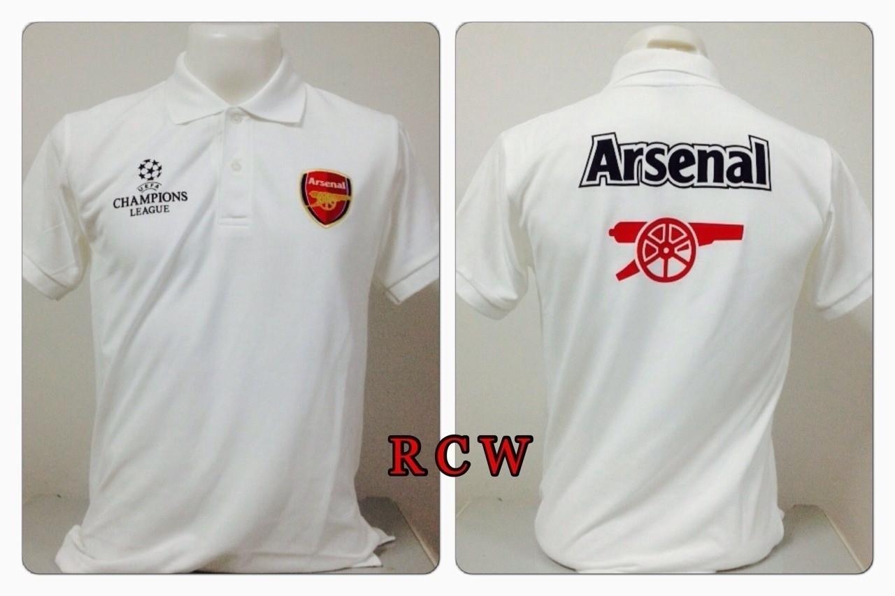 เสื้อโปโล อาร์เซนอล สีขาว RCW