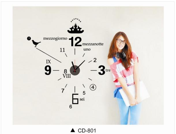 นาฬิกาพร้อมสติกเกอร์ CD801