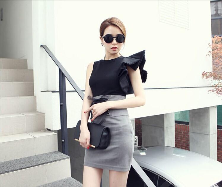 แฟชั่นเกาหลี Set เสื้อ และกระโปรง สวยเก๋