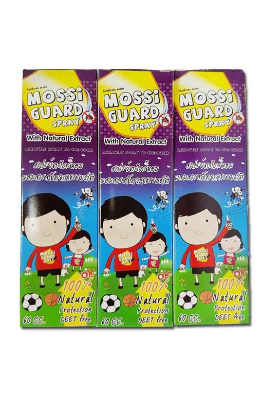 (ซื้อ3 ราคาพิเศษ) Mossi Guard Spray 60cc ม็อซซี่การ์ด สเปรย์ฉีดกันยุงตะไคร้หอม สามารถ ใช้กับเด็กๆได้อย่างปลอดภัย