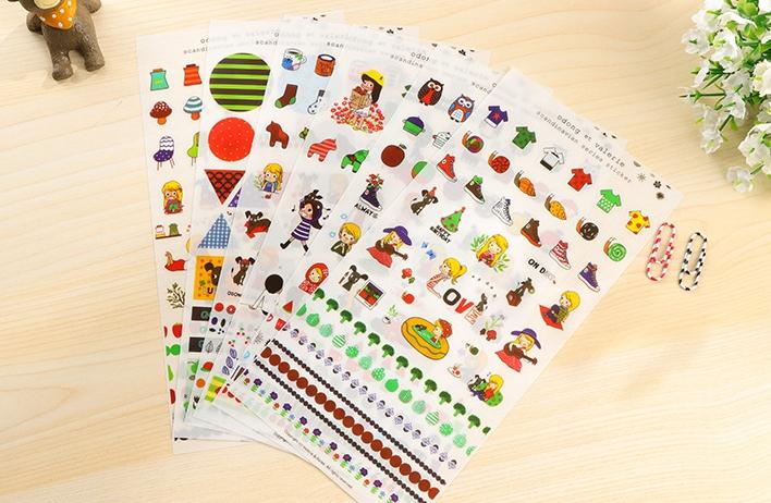 สติ๊กเกอร์ชุด : Scandinavian Series Sticker