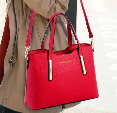 Pre-order กระเป๋าถือและสะพายไหล่ผู้หญิง Messenger bag แฟชั่นเกาหลี รหัส KO-562 สีแดง