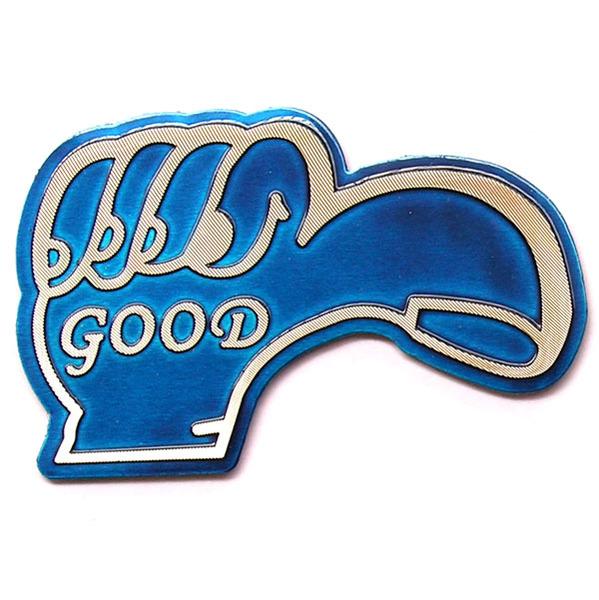 สติ๊กเกอร์ติดรถยนต์สะท้อนแสงสีน้ำเงิน Good 8.5x5.4 CM