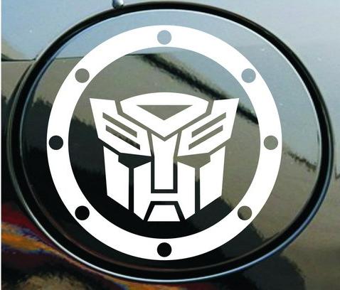 สติ๊กเกอร์แปะฝาถังน้ำมันรถ Transformer สีขาว (11x11 CM)