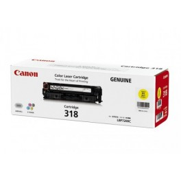 Canon Cartridge-318Y ตลับหมึกโทนเนอร์ สีเหลือง Yellow Toner Original Cartridge
