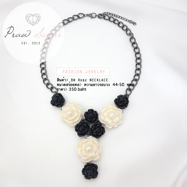 BW Rose necklace
