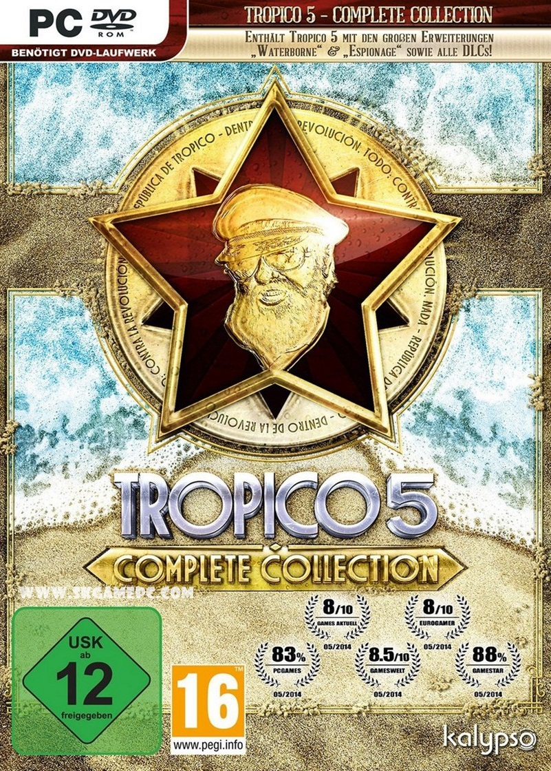 Tropico 5 Complete Collection All DLC ( 1 DVD )