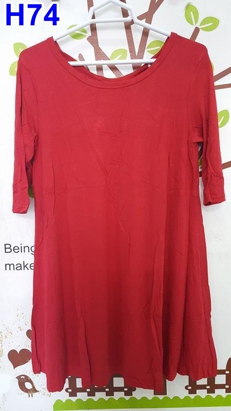 #เสื้อคลุมท้องแฟชั่น ผ้ายืดสีแดงแขนสามส่วน คอกว้าง มีเชือกผูกโบว์ด้านหลัง ผ้านิ่มมากๆค่ะใส่สบาย