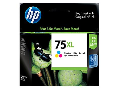 HP 75XL ตลับหมึกอิงค์เจ็ท 3สี Tri-Color Original Ink Cartridge (CB338WA)