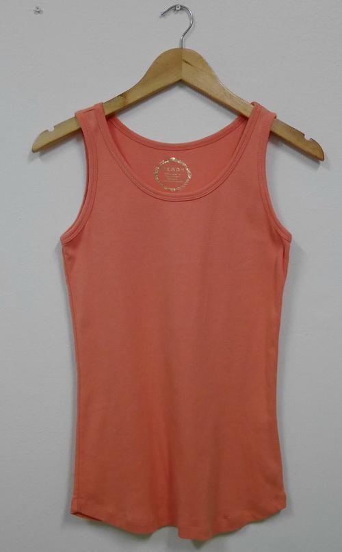 Jp4012 เสื้อกล้ามผ้ายืด สีส้ม รอบอก 30-34 นิ้ว