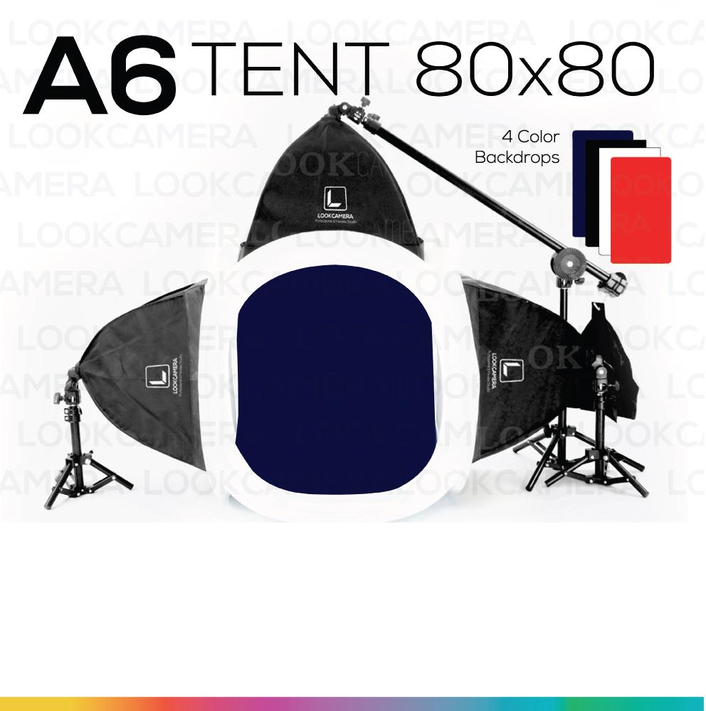 A6 TENT 80x80 ชุดไฟสตูดิโอแสงนุ่มแบบมือโปร