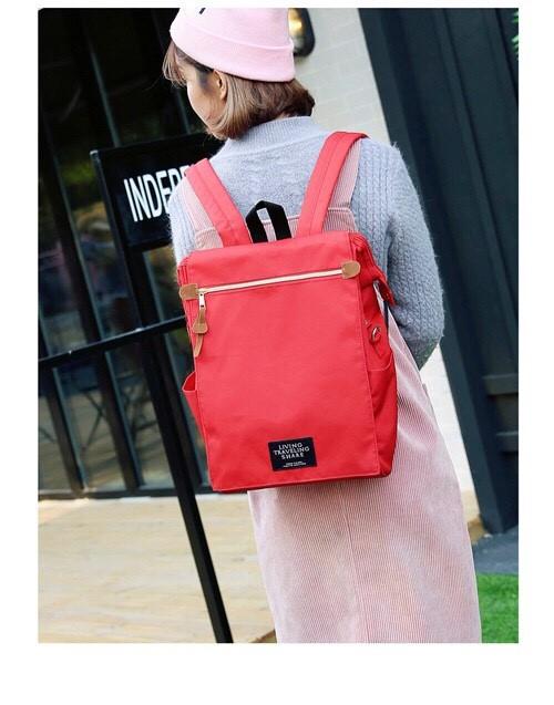 กระเป๋าเป้ Pocket Flap style สีแดง