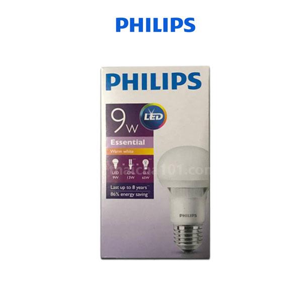 หลอดไฟ LED 9W PHILIPS สีขาวนวล Warm White