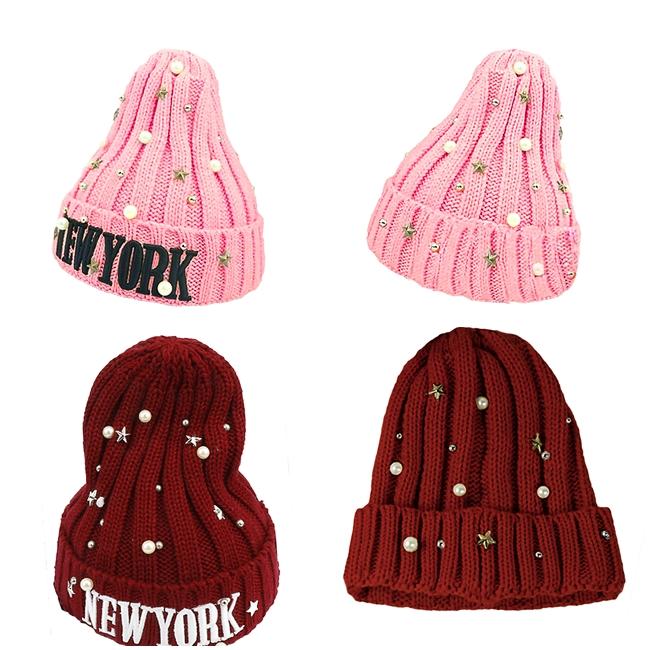 หมวกไหมพรม New York Beads