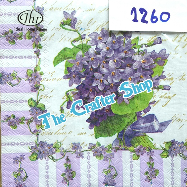 napkin ลายดอกไม้ (รหัสสินค้า NA-1260)