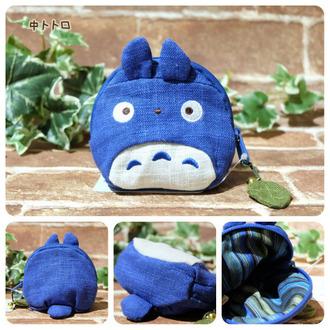 กระเป๋าซิป My Neighbor Totoro สีน้ำเงิน