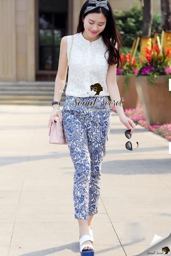Seoul Secret Ladiest Ratro Lace Playsuit