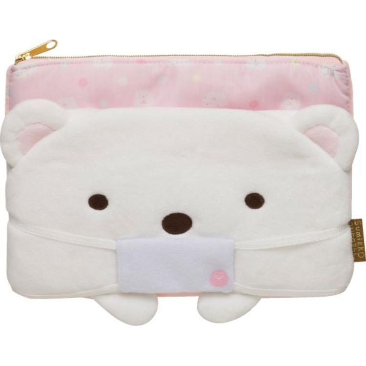 กระเป๋าใส่หน้ากาก Sumikko Gurashi หมีขาว